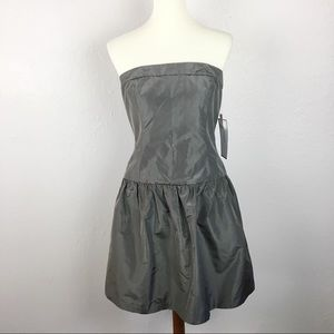 NWT J. Crew 100% Silk Sleeveless Taffeta Dress